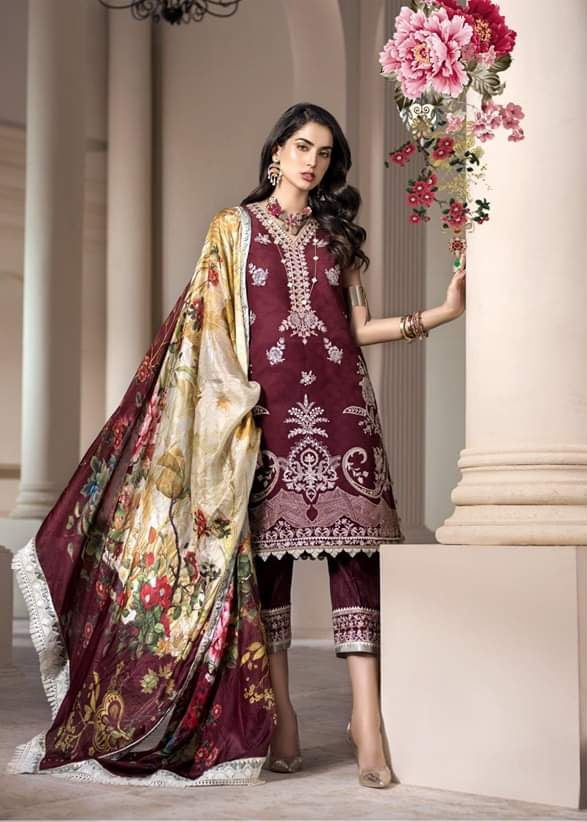 Noor Luxury Lawn Collection 2020 D-8b