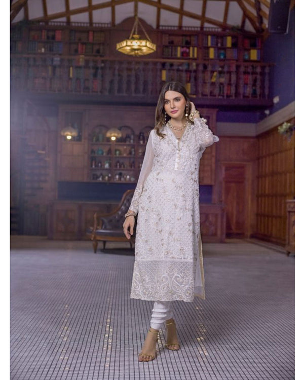 Azure Luxury Formals Kurti Vol 5 Crystal Dove LFD11