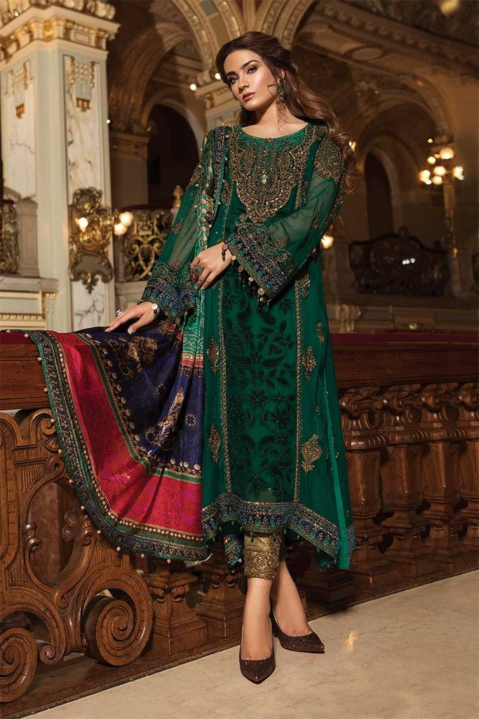 Maria B Embroidered Collection Pakistani Salwar Suit Design 1501