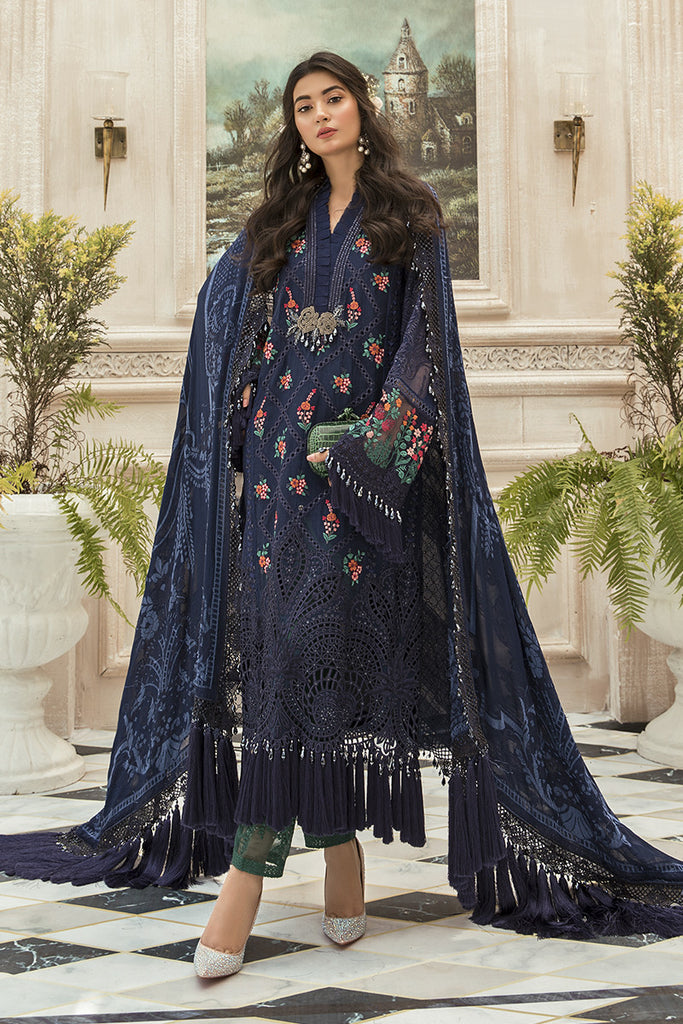Maria B Mbroidered Chiffon Collection - Bd-1901
