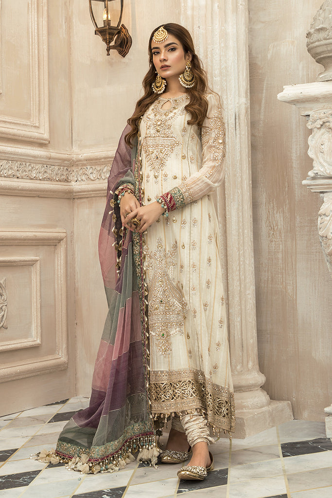 Maria B Mbroidered Chiffon Collection - Bd-1902