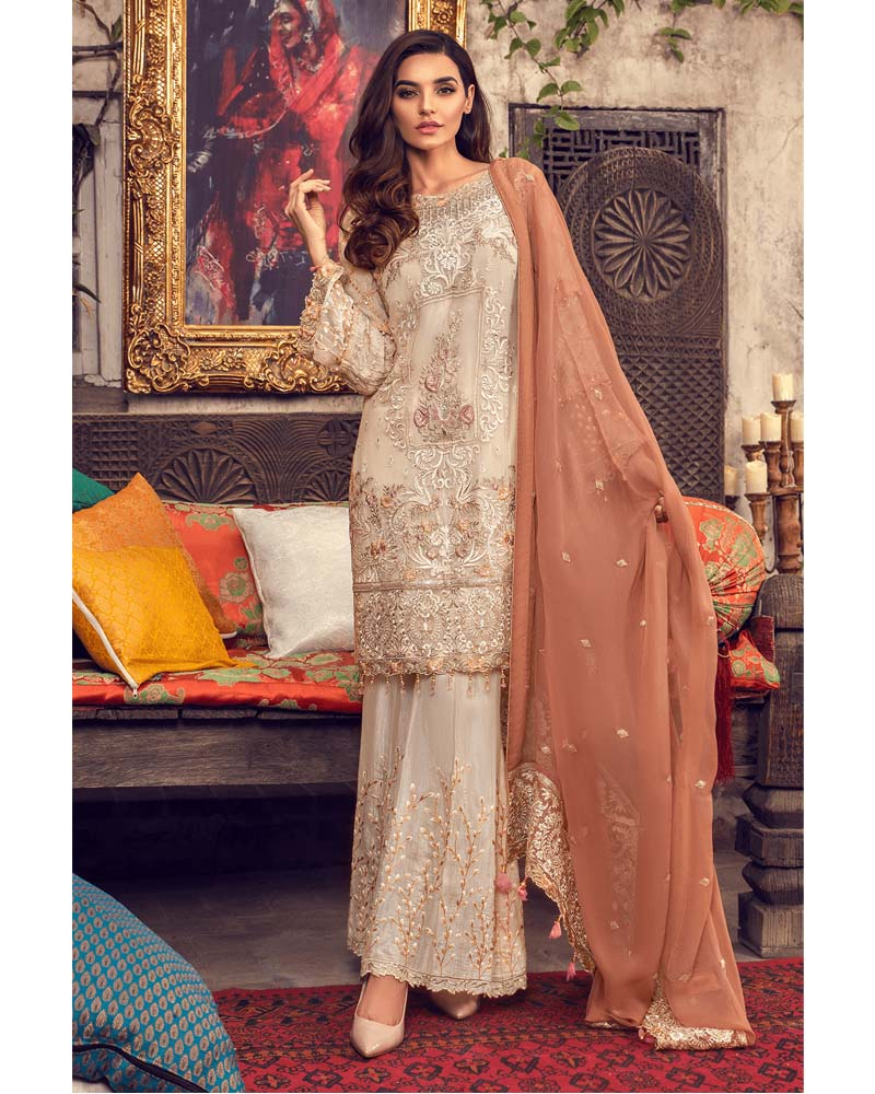 Maryams Luxury Embroidery Collection GOLD Vol-4 Blossom Realm-MG-48