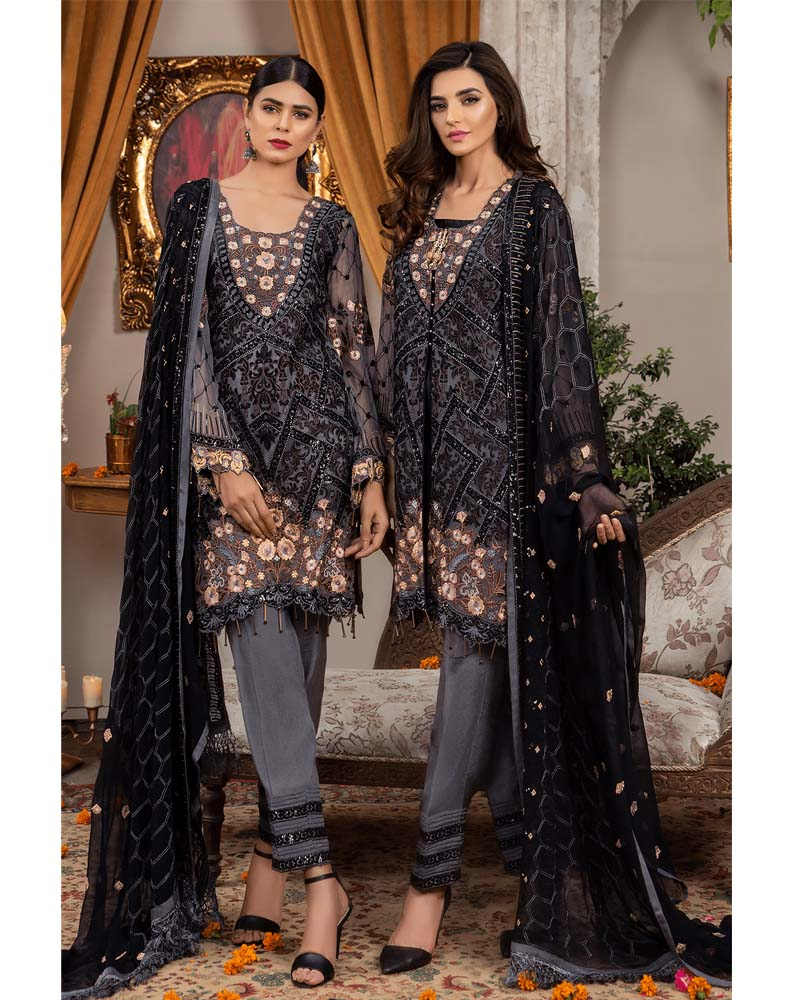 Maryams Luxury Embroidery Collection GOLD Vol-4 Coal Twilight-MG-47