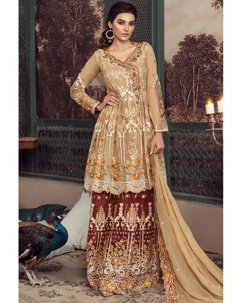 Maryams Luxury Embroidery Collection GOLD Vol-4 Regnal Glare-MG-37