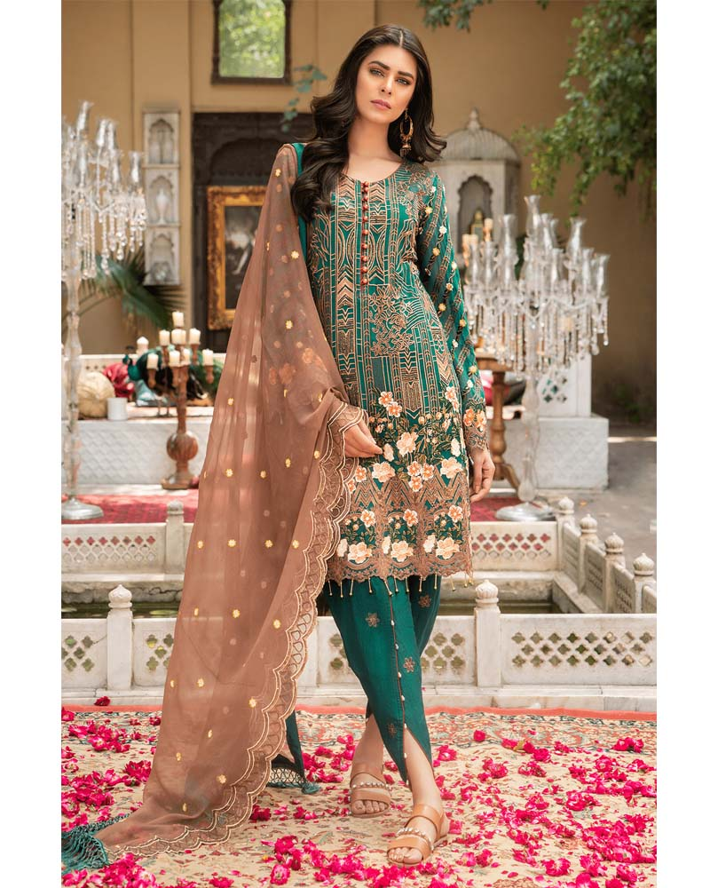 Maryams Luxury Embroidery Collection GOLD Vol-4 Sage Dreams-MG-38