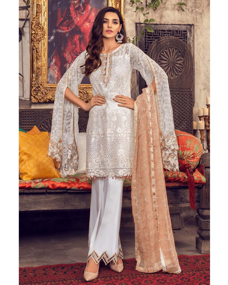 Maryams Luxury Embroidery Collection GOLD Vol-4 Sheer Epoch-MG-41