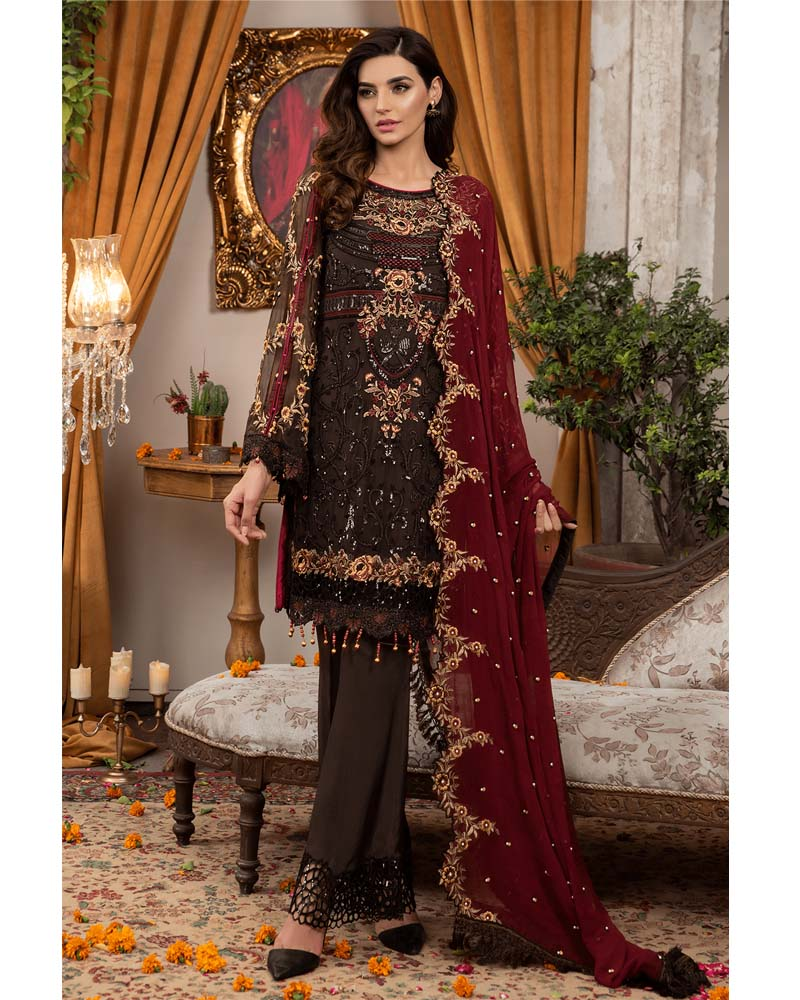 Maryams Luxury Embroidery Collection GOLD Vol-4 The Desert Empress-MG-42