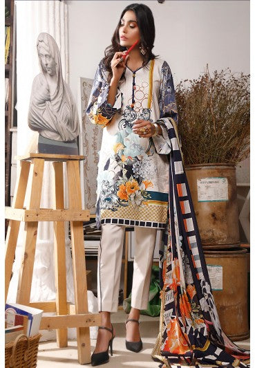 Firdous Urbane Digital Lawn Collection ULD 19245-B
