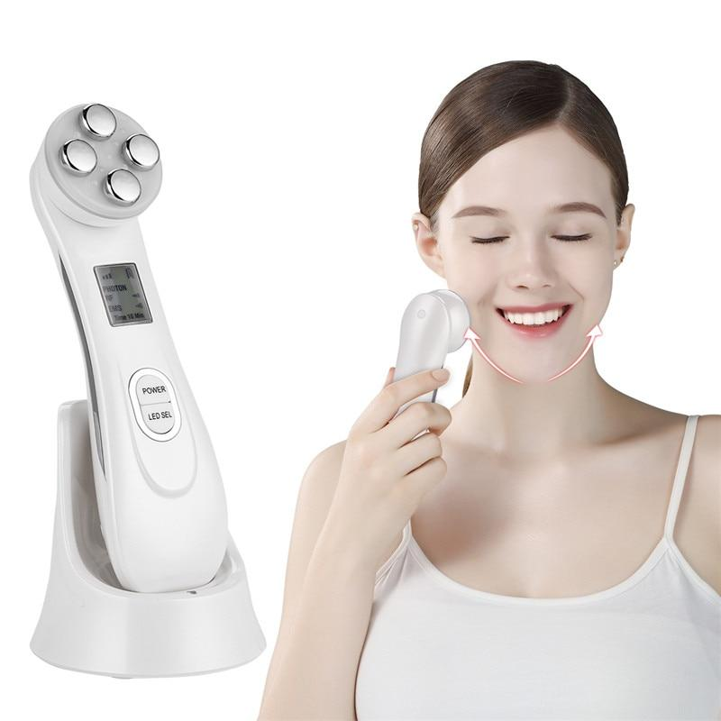 6 In 1 Face RF EMS LED Photon Skin Rejuvenation Machine Anti Age Facial Lifting Tightening Deep Cleaning Device Beauty Massager
