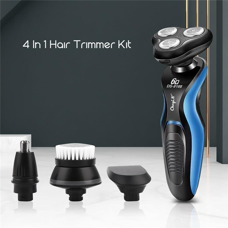 4 In 1 Electric Shaver Kit Beard Trimmer for Men Nose Trimmer Hair Clipper Facial Cleaning Brush Face Care Men's Grooming Set 49
