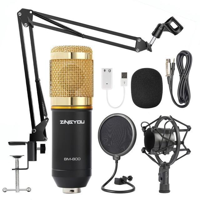 Studio Microphone Multifunctional Wired Cardioid Mic For Sound Recording Professional Condenser Microphone
