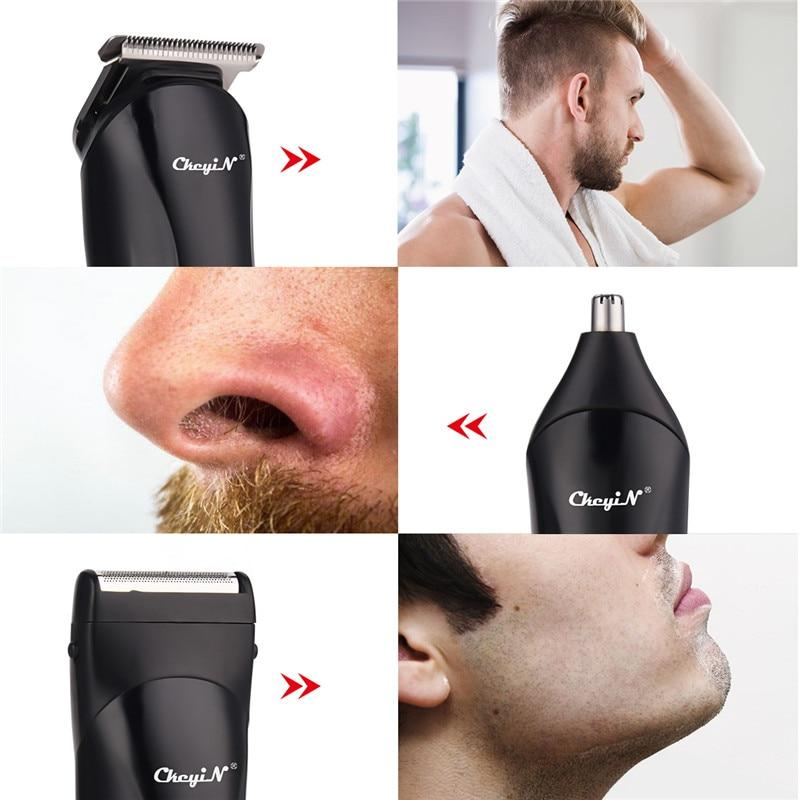 3 In 1 Electric Hair Trimmer Nose Shaver For Men's Hair Clipper USB Rechargeable Powerful Haircutting Blade Machine Tools 4546