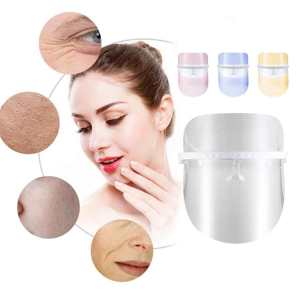 LED Facial Mask Belleza Facial Masque Massage Beauty Skin Rejuvenation Photon Therapy Wrinkle Acne Tighten Face Care Treatment