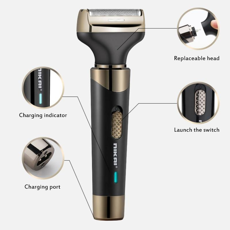 Nikai Electric Hair Clipper Rechargeable Haircut Waterproof Wireless Shaver Beard Nose Ear 4-in-1 Multi-function Hair Trimmer