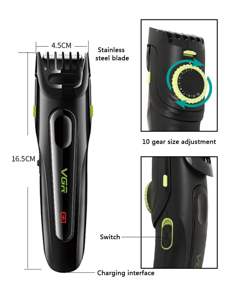 Professional Electric Hair Clipper Househeld USB Rechargeable Hair Style Trimmer Adult Razors Hair Trimmers Corner Razor