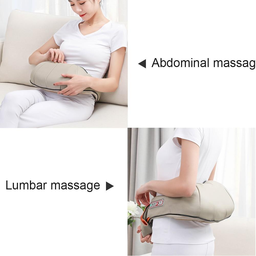 Electrical Massage Shiatsu Back Shoulder Body Neck Massager Multifunctional Shawl Infrared Heated Kneading Car/Home Massager