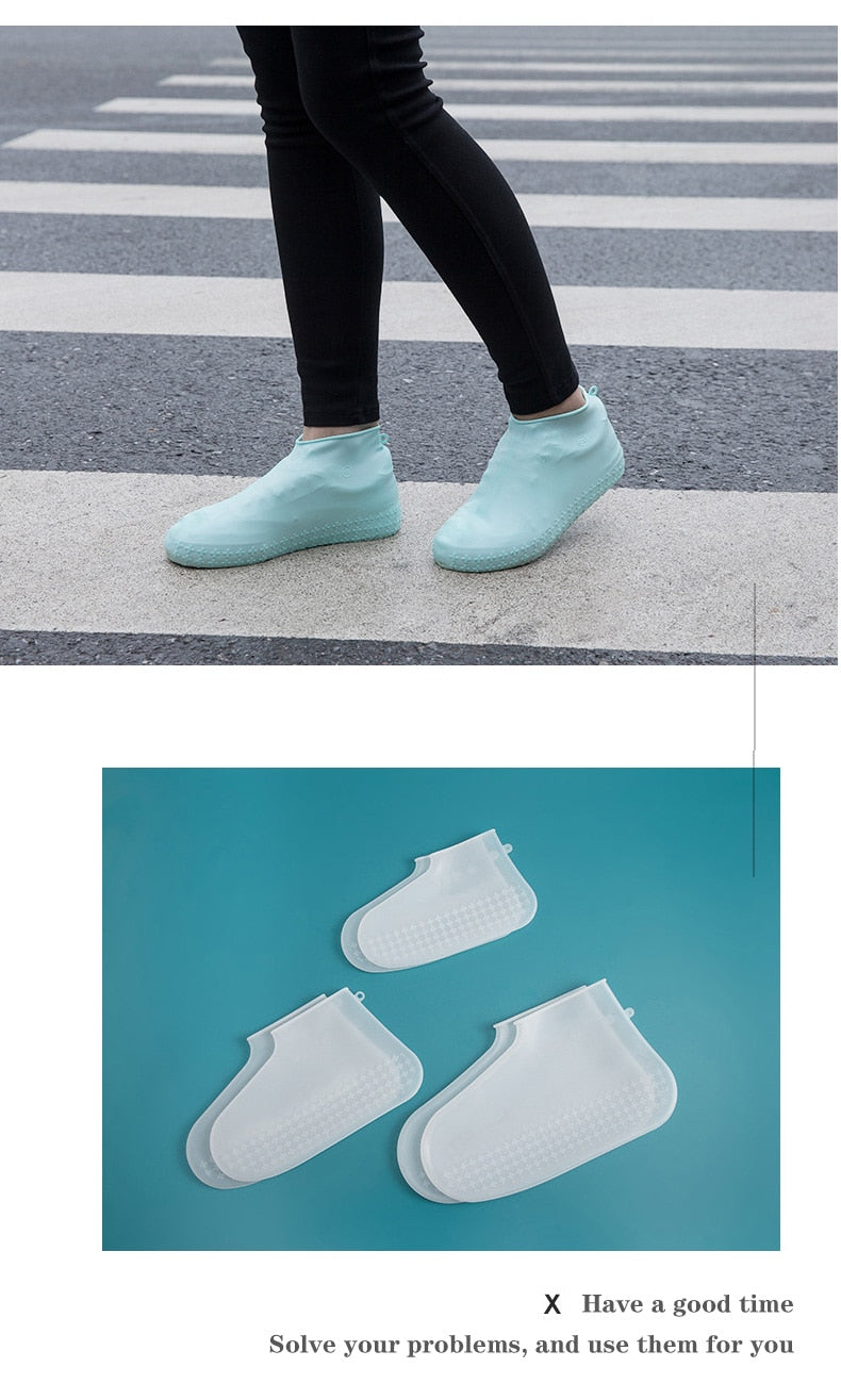 Waterproof Shoe Cover Silicone Material Unisex Shoes Protectors Rain Boots for Indoor Outdoor Rainy Days Days Reusable