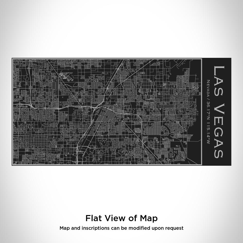 Las Vegas - Nevada Map Insulated Bottle in Matte Black