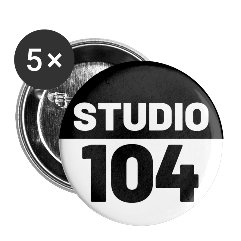 Studio 104 Buttons large 2.2'' (5-pack) - white