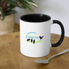 Downtown East Side Contrast Coffee Mug - white/black
