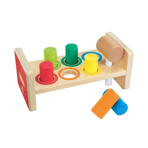 Bundle - of Toys 20 : Fisher Price Laugh & Learn Fruits n Fun Learning Market, ELC Musical Melody Guitar, ELC Wooden Stacking Rings, & ELC Wooden Hammer Bench