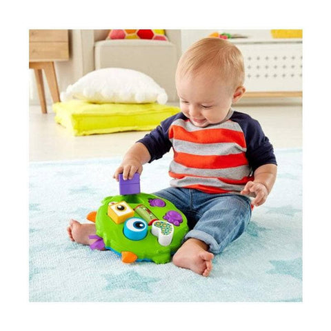 Bundle - of Toys 21 : ELC Baby Rainmaker, ELC Shape Recognition Set, Fisher Price Infant Shape Sorter Truck & Fisher Price Silly Sortin Monster Puzzle