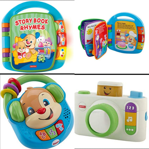 Bundle of Toys : Fisher Price Laugh & Learn Sing & learn Music Player, Fisher Price Laugh & Learn Click n Learn Camera Toy & Fisher Price Laugh & Learn Storybook Rhymes