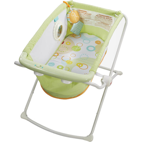 Fisher Price Green Rock 'n Play Portable Bassinet