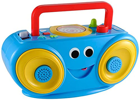 Bundle - of Toys 19 : ELC Wooden Stacking Rings, ELC Baby Rainmaker & ELC Funky Sounds Boombox