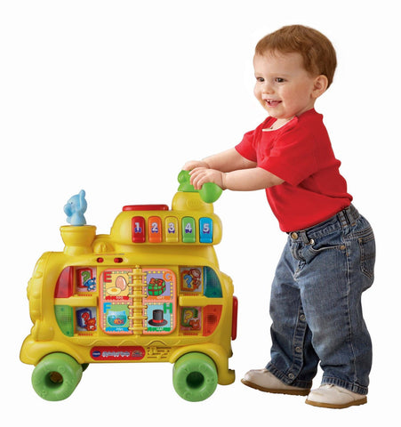 Bambinio Activity Toys 2 (Fisher Price Lion Musical Walker + Vtech Sit To Stand Alphabet Train)