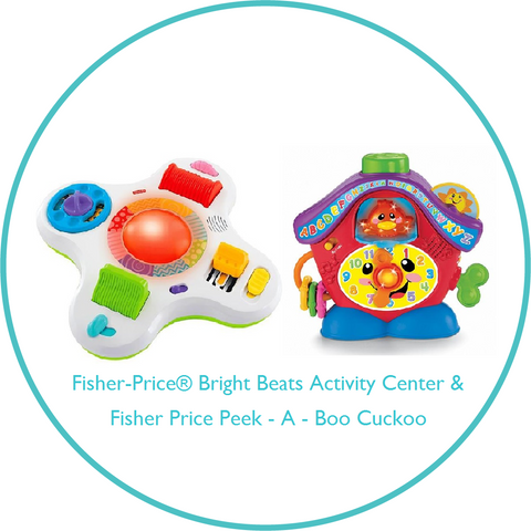 Bundle of Toys 8:  Fisher-Price® Bright Beats Activity Center & Fisher Price Peek - A - Boo Cuckoo