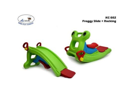 L'abeille Froggy 2in1 Slide & Rocker