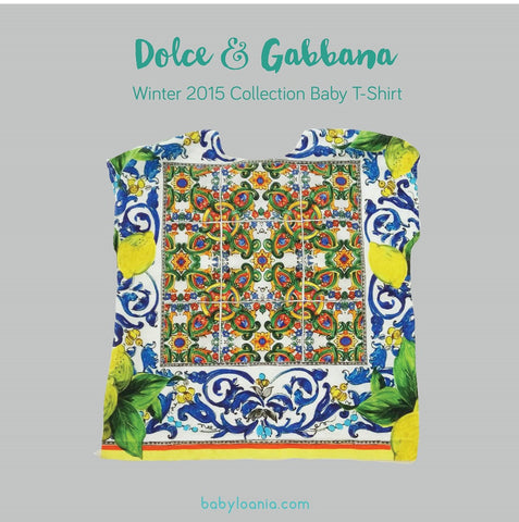 Dolce & Gabbana Winter 2015 Collection Baby T-shirt