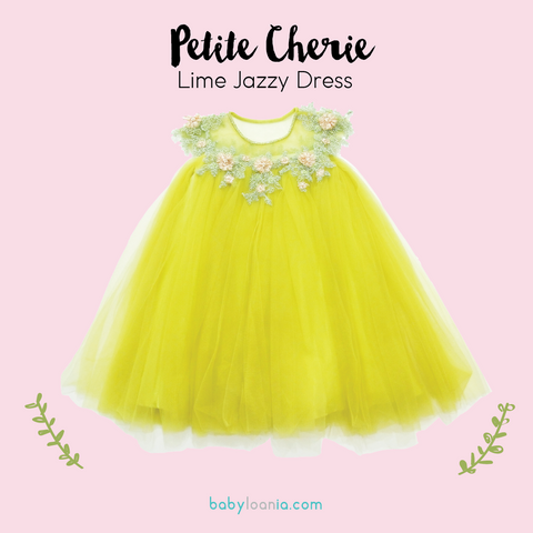 Petite Cherie Lime Jazzy Dress