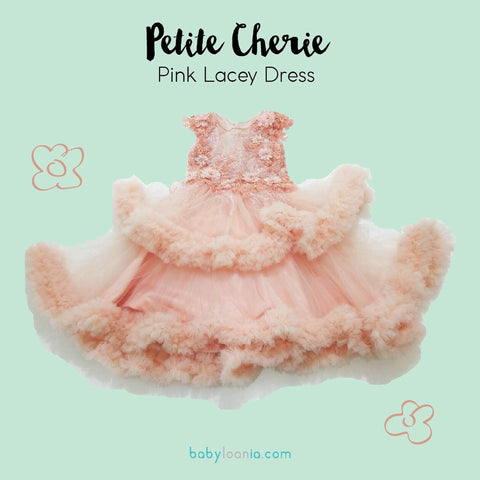 Petite Cherie Pink Lacey Dress