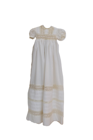 Handmade Lace and Linen Christening Gown