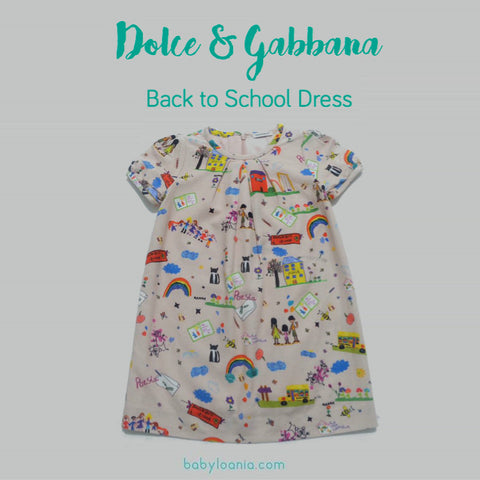 DOLCE & GABBANA Light Pink Back to School T-Shirt Dress