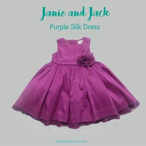 Janie and Jack Purple Silk Special Occasion Dress