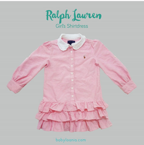Ralph Lauren Light Pink Toddler Girls' Shirtdress