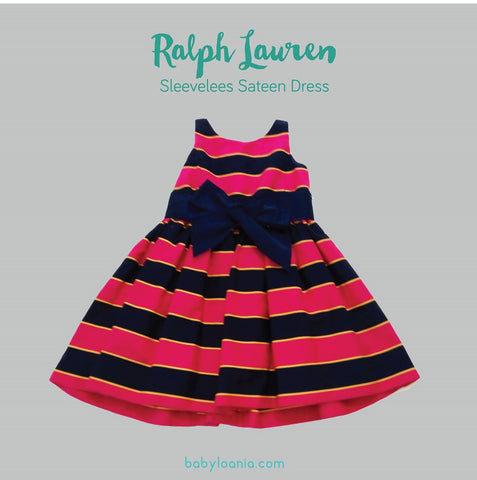 Ralph Lauren Fuschia Sleeveless Sateen Dress