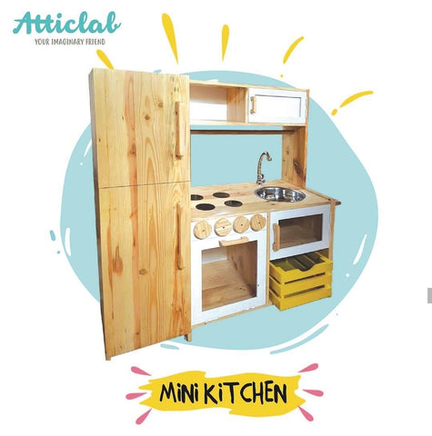 Atticlab Design Yellow on White Medium Kitchen  Set