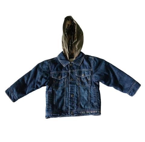 Burberry Boys' Denim Jacket with Hoodie