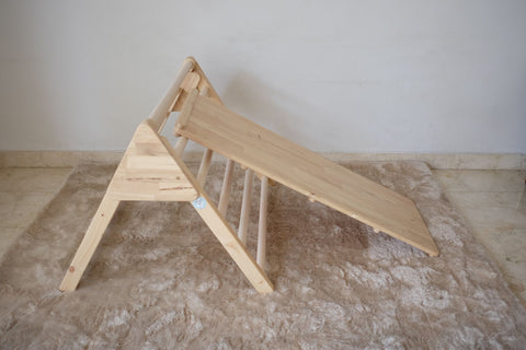 BIOMA Pikler triangle with wooden slide