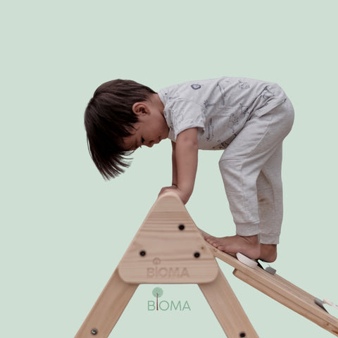 BIOMA Pikler With Wall Climbing and Slide