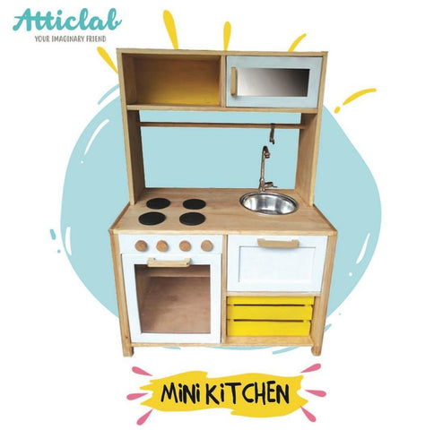 Atticlab Design Yellow on White Small Kitchen Set