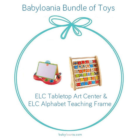 Bundle of Toys 4 : ELC Tabletop Art Center & ELC Alphabet Teaching Frame