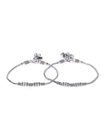 Priyassi Oxidised Silver Anklet for Women & Girls