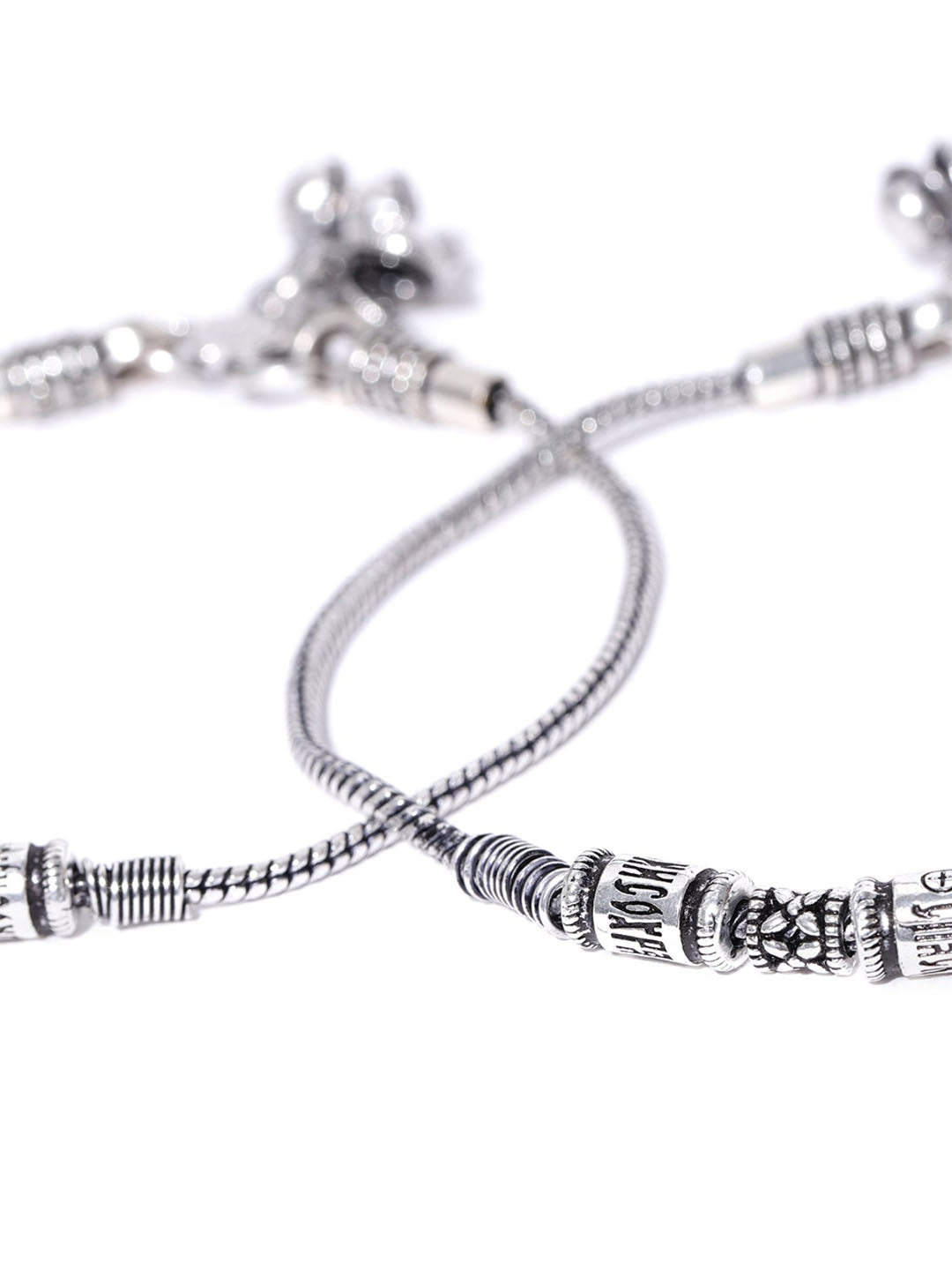 Oxidised Silver Anklet for Women & Girls