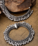 Priyaasi Oxidised Silver-Toned Anklets For Women And Girls