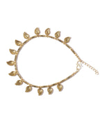 Priyaasi Set Of 2 Tribal Gold Toned Brass Anklets For Women And Girls